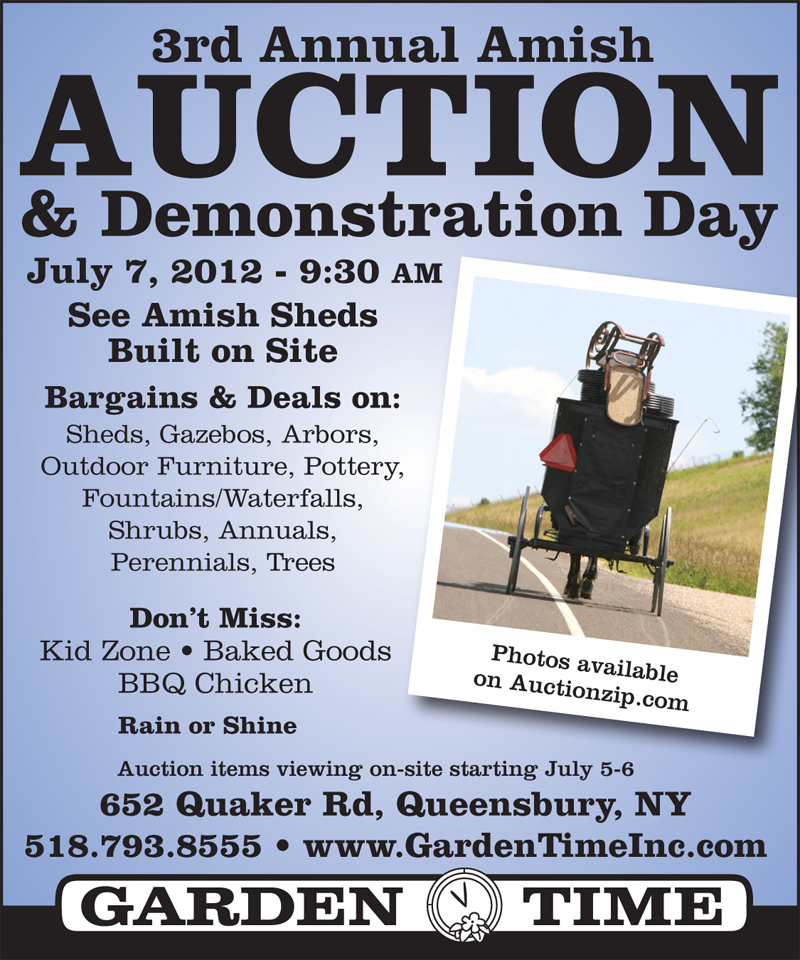 Amish Auction postcard