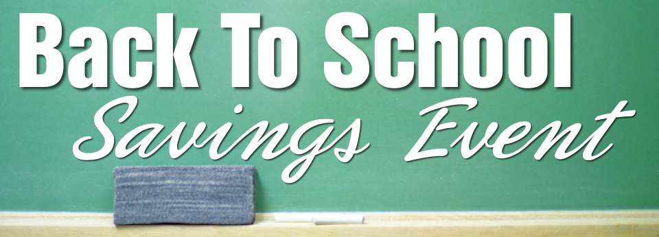 back to school savings event banner