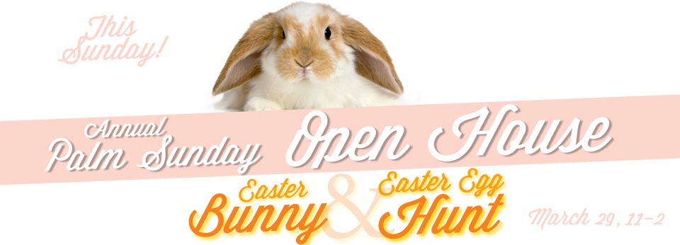 easter open house banner website