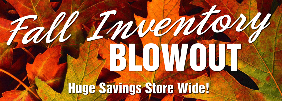 fall inventory blowout banner