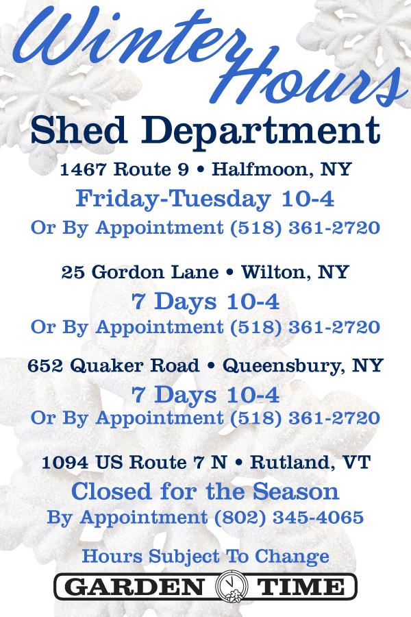 shed dept winter hours 2014 pt 2