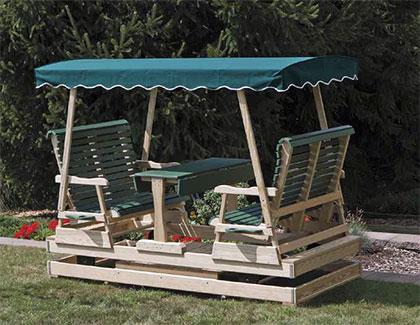Outdoor Arbors & Gliders from Garden Time Sheds in Saratoga, Queensbury & Clifton Park NY & Rutland VT