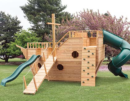 Outdoor Play Sets & Playhouses from Garden Time Sheds in Saratoga, Queensbury & Clifton Park NY & Rutland VT