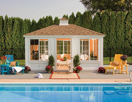 Cabanas for pools from Garden Time Sheds in Saratoga, Queensbury & Clifton Park NY & Rutland VT