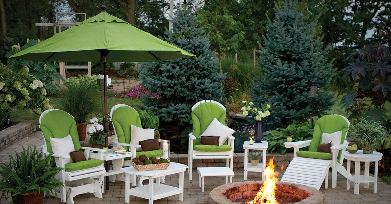 Outdoor furniture from Garden Time Sheds in Saratoga, Queensbury & Clifton Park NY & Rutland VT