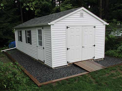 Info on preparing your site for your new garden time shed for Garden sheds built on site