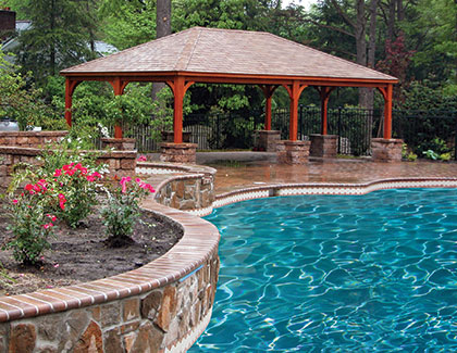 Pavilions for pools and more from Garden Time Sheds in Saratoga, Queensbury & Clifton Park NY & Rutland VT