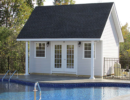 Custom Poolhouses from Garden Time Sheds in Saratoga, Queensbury & Clifton Park NY & Rutland VT