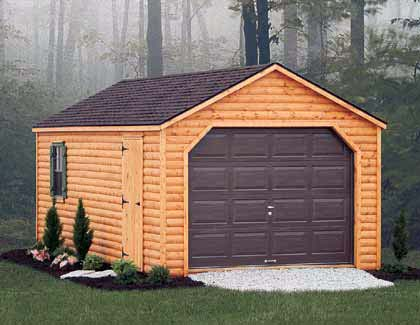 Rustic Series Garages from Garden Time Sheds in Saratoga, Queensbury & Clifton Park NY & Rutland VT