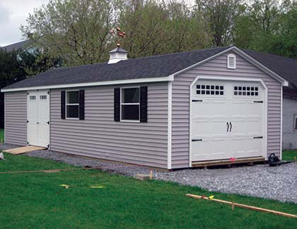 Standard Series Garages from Garden Time Sheds In Queensbury, Saratoga & Clifton Park NY & Rutland VT