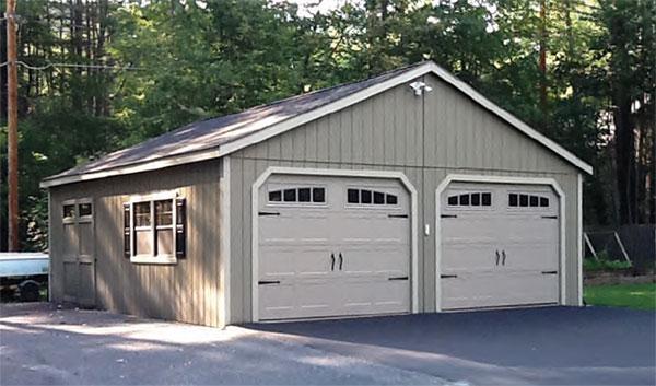 2-Car New England Garage 24'x26'