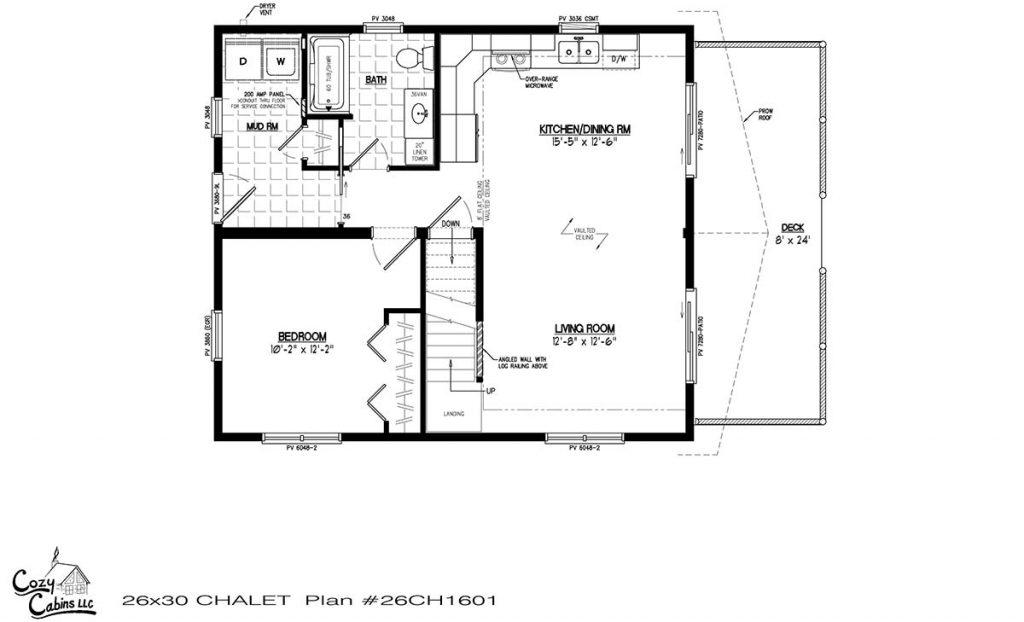 Chalet 26CH1601 Floor Plan