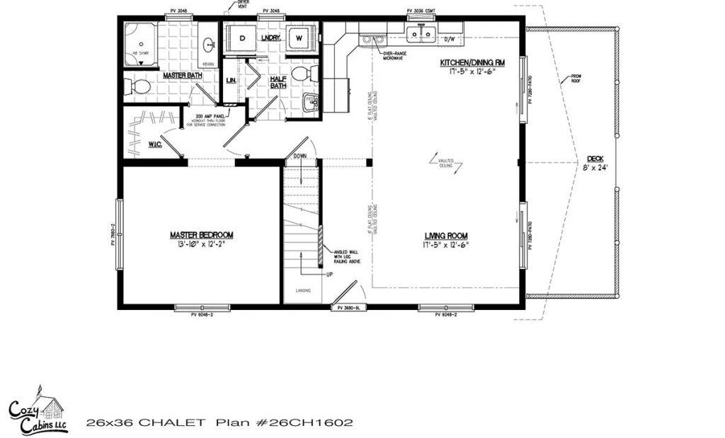 Chalet 26CH1602 first floor