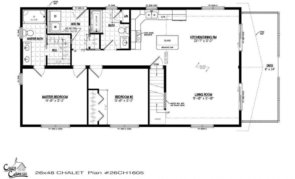 Chalet 26CH1605 first floor