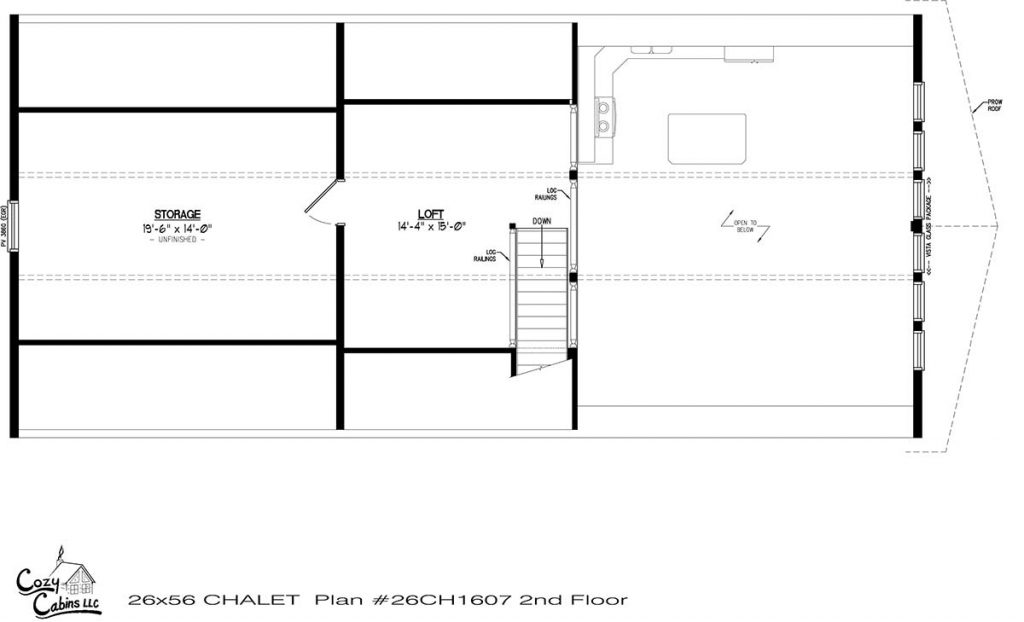 Chalet 26CH1607 Second floor