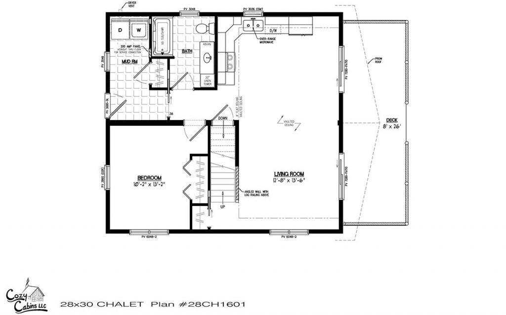 Chalet 28CH1601 First floor