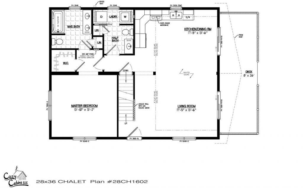 Chalet 28CH1602 First floor