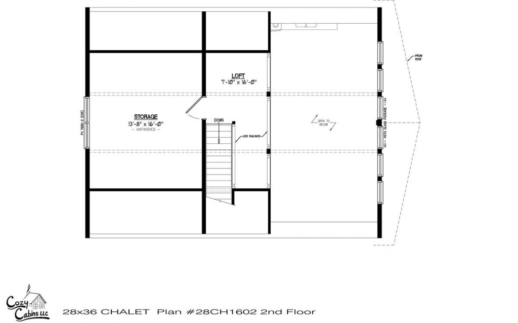 Chalet 28CH1602 Second floor