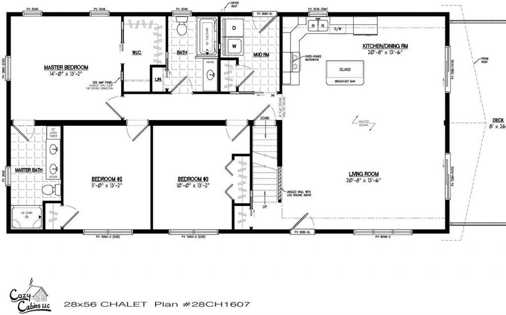 Chalet 28CH1607 First floor