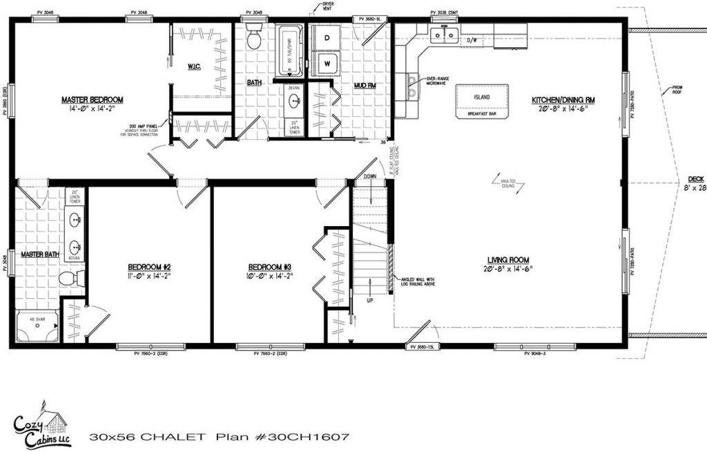 Chalet 30CH1607 First floor