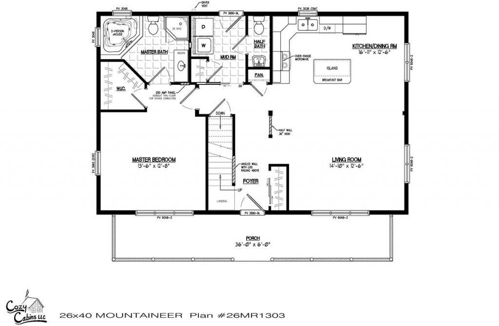 Mountaineer 26MR1303 first floor