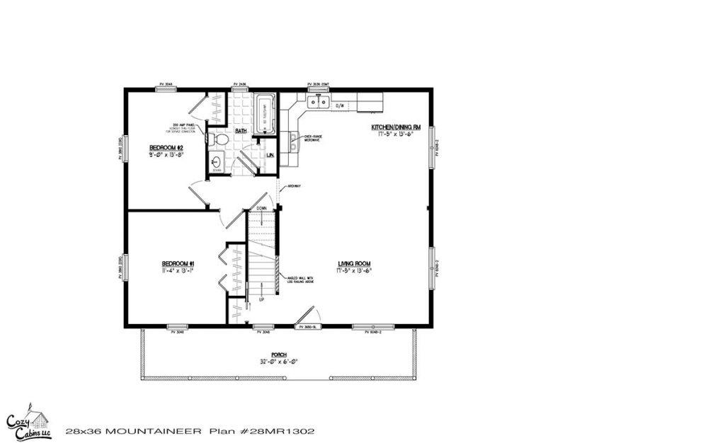Mountaineer 28MR1302 first floor