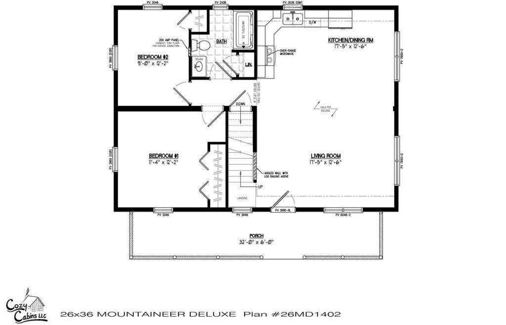 Mountaineer Deluxe 26MD1402 first floor