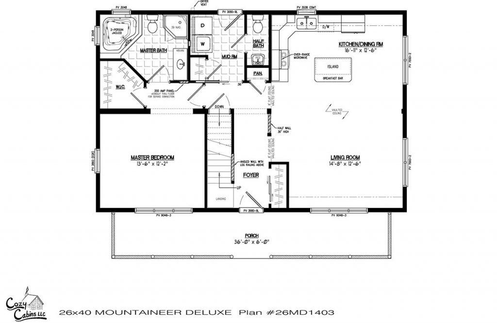 Mountaineer Deluxe 26MD1403 first floor
