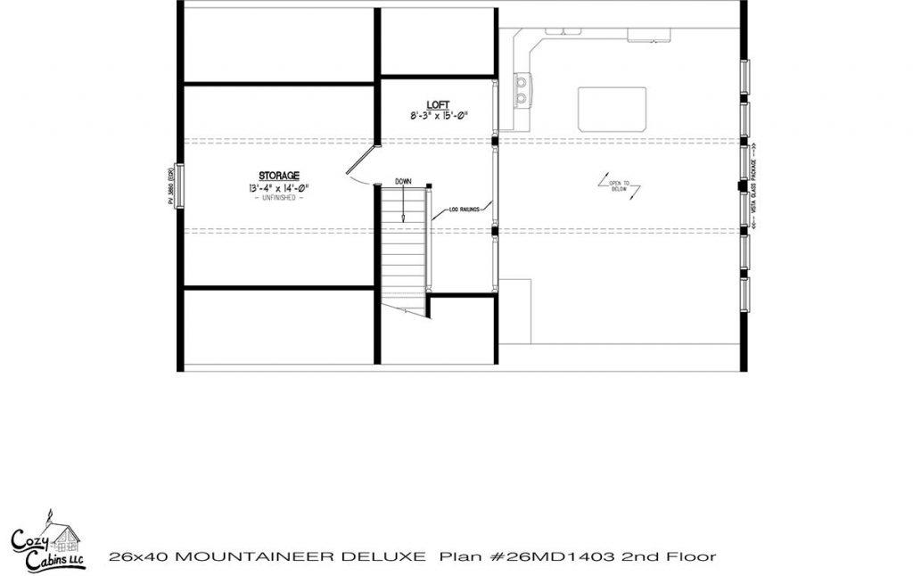 Mountaineer Deluxe 26MD1403 second floor