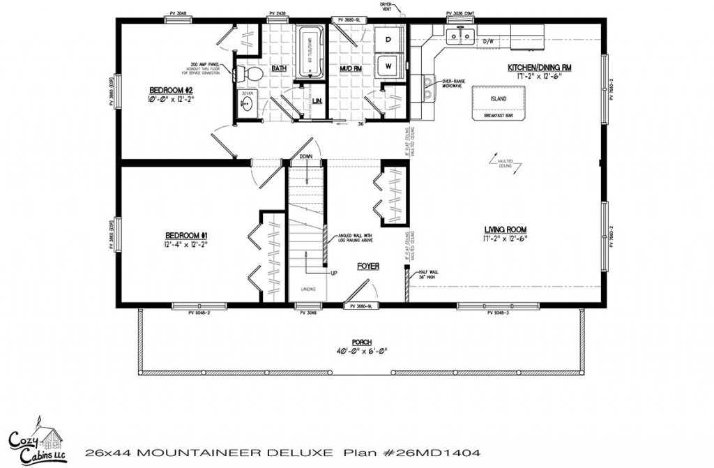 Mountaineer Deluxe 26MD1404 first floor