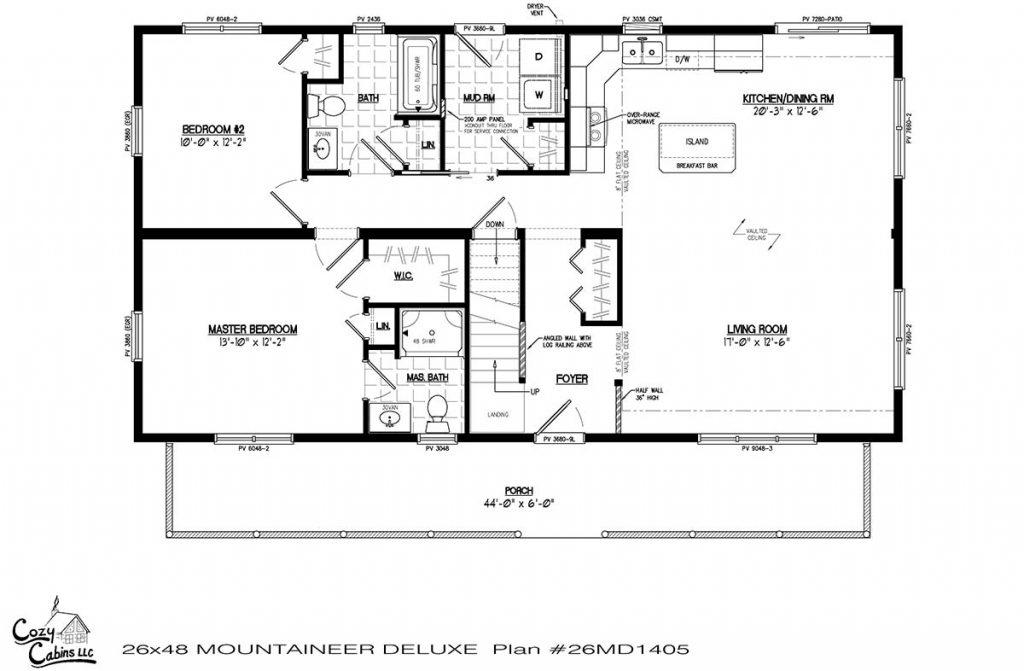 Mountaineer Deluxe 26MD1405 first floor