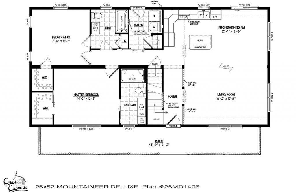 Mountaineer Deluxe 26MD1406 first floor
