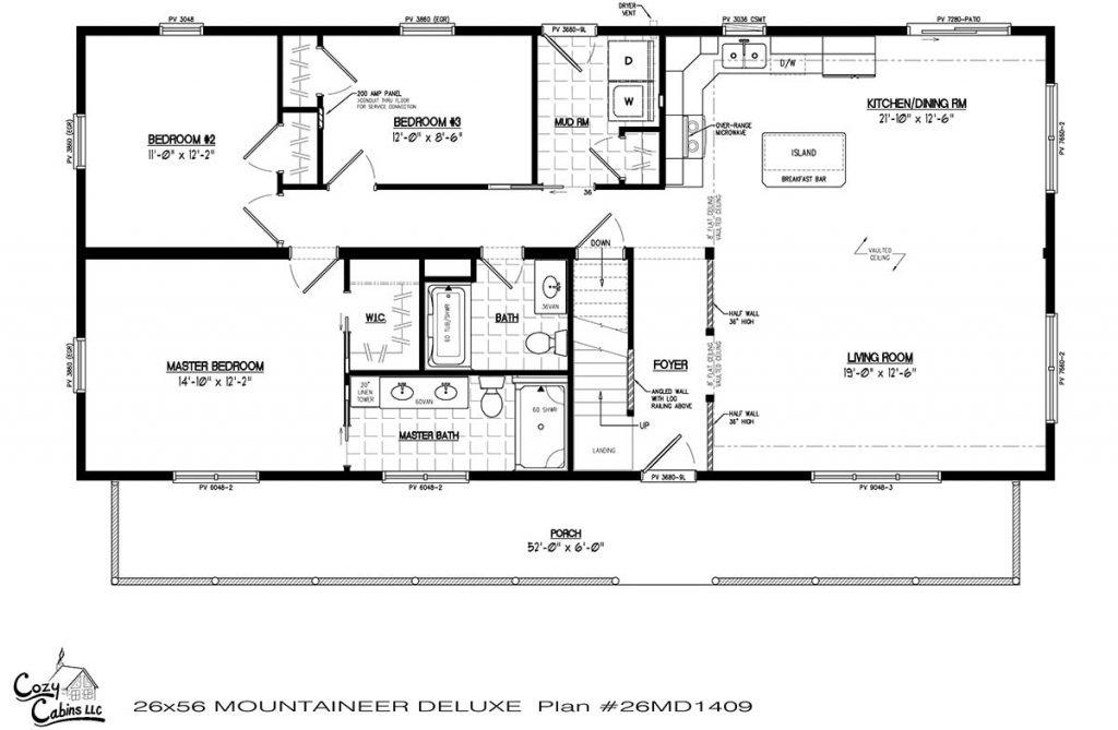 Mountaineer Deluxe 26MD1409 first floor