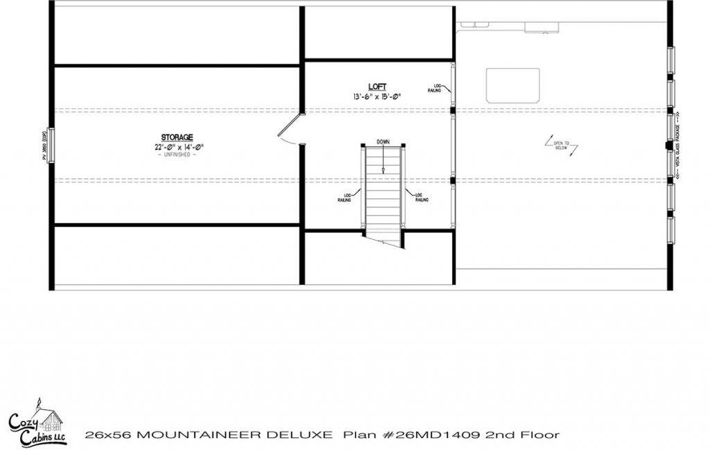 Mountaineer Deluxe 26MD1409 second floor