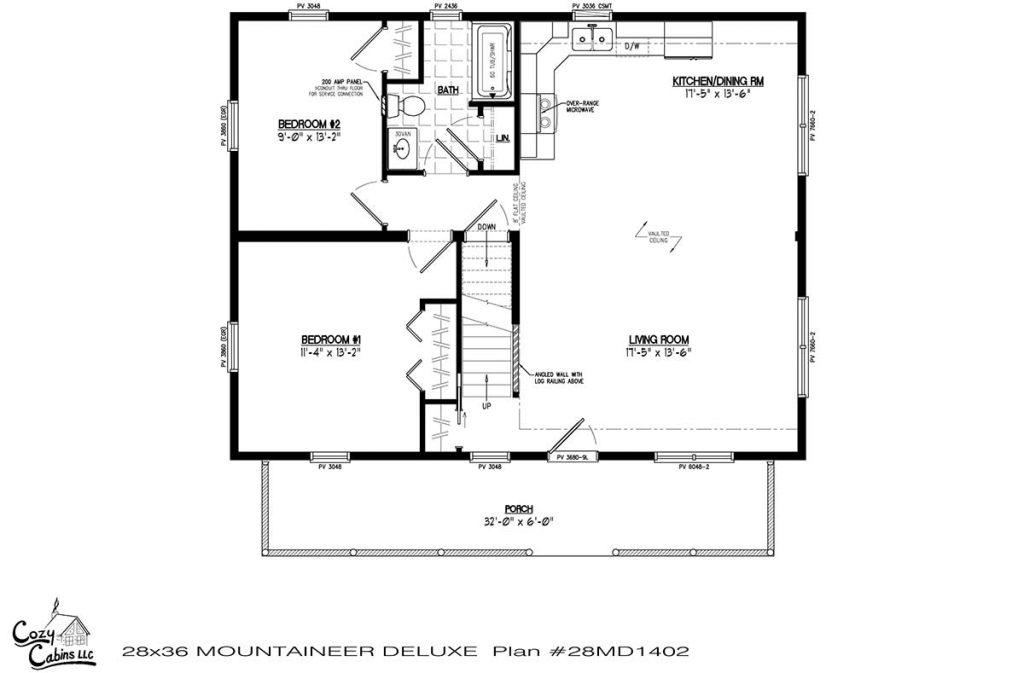 Mountaineer Deluxe 28MD1402 first floor
