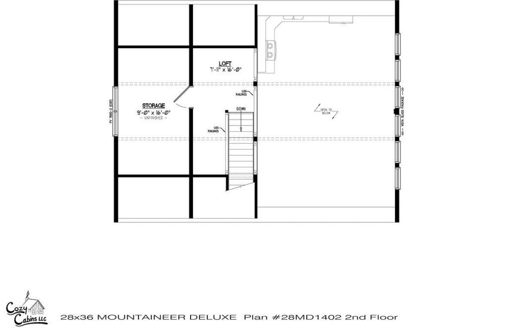 Mountaineer Deluxe 28MD1402 second floor