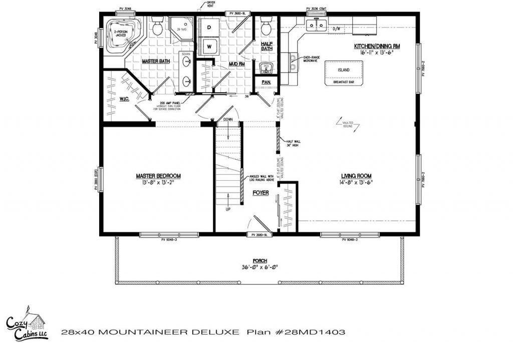 Mountaineer Deluxe 28MD1403 first floor