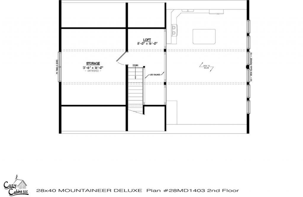 Mountaineer Deluxe 28MD1403 second floor