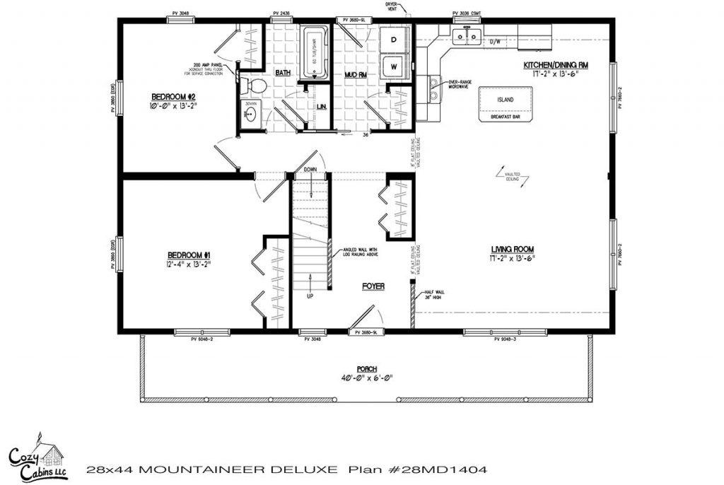 Mountaineer Deluxe 28MD1404 first floor