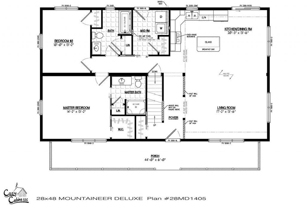Mountaineer Deluxe 28MD1405 first floor