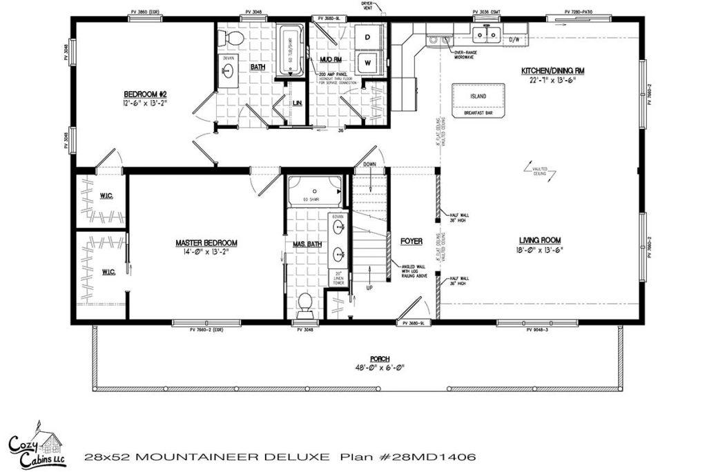 Mountaineer Deluxe 28MD1406 first floor