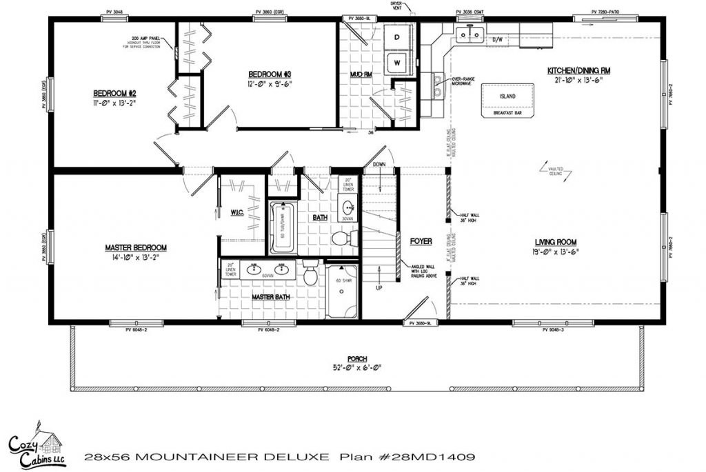 Mountaineer Deluxe 28MD1409 first floor