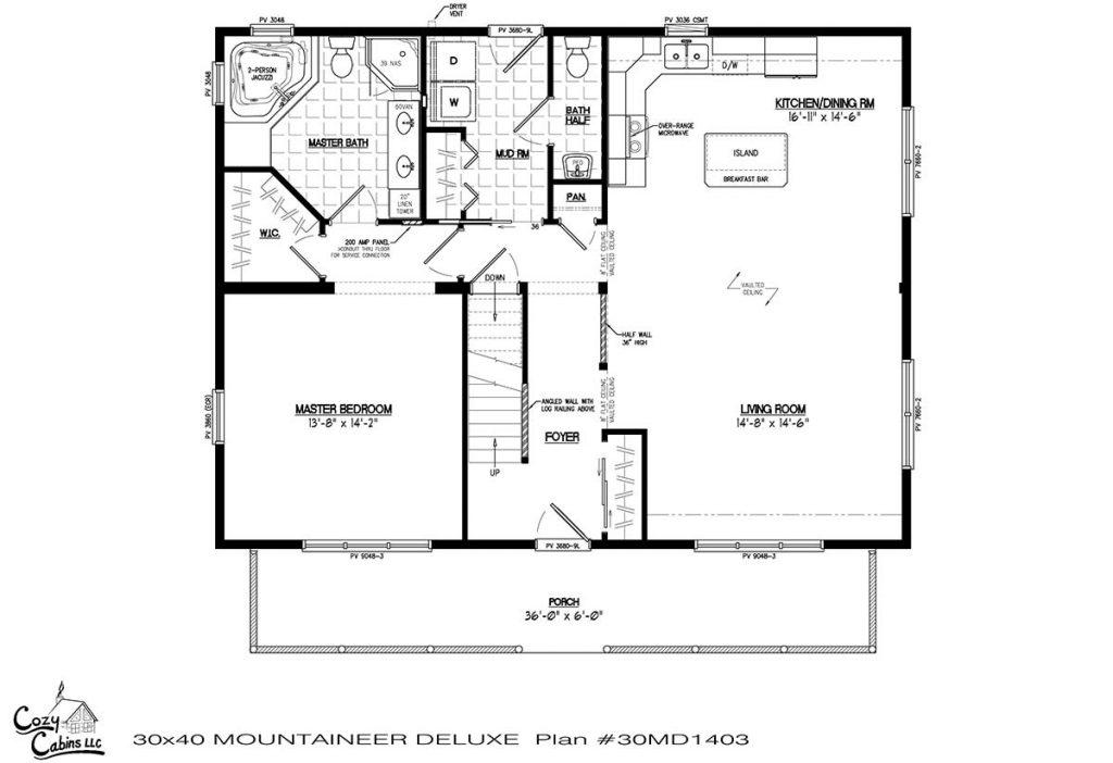 Mountaineer Deluxe 30MD1403 first floor