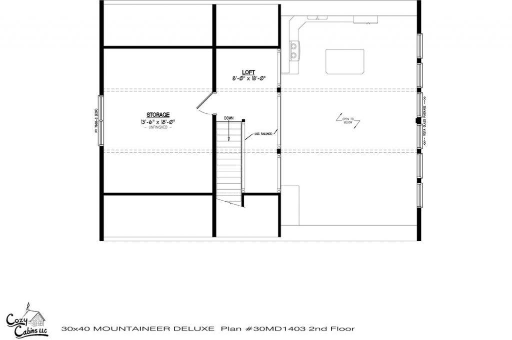 Mountaineer Deluxe 30MD1403 second floor