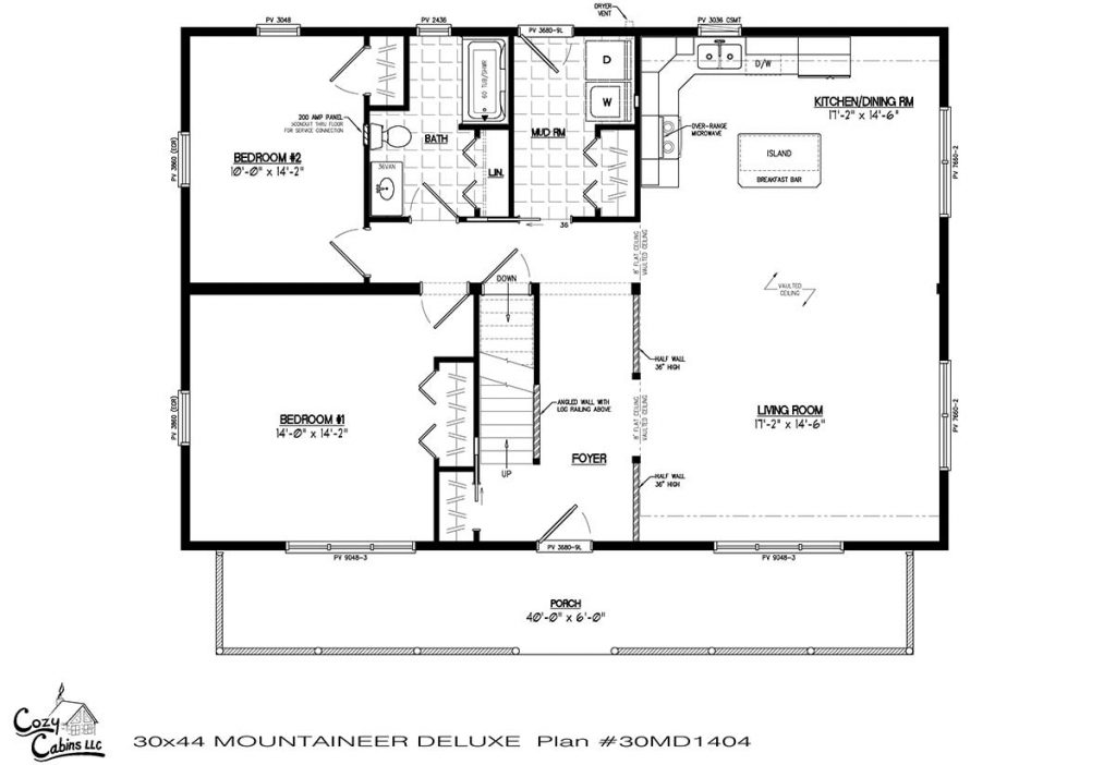 Mountaineer Deluxe 30MD1404 first floor