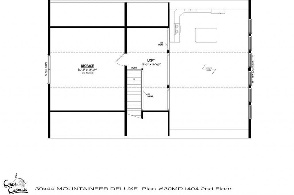 Mountaineer Deluxe 30MD1404 second floor