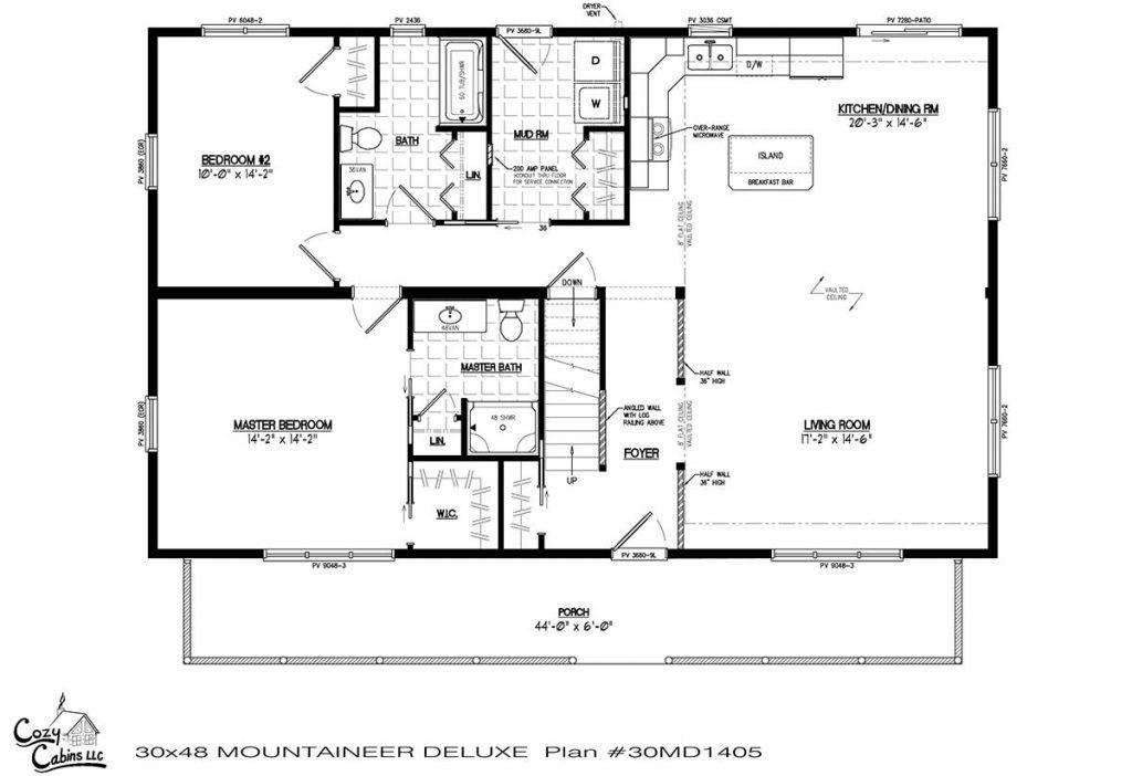 Mountaineer Deluxe 30MD1405 first floor