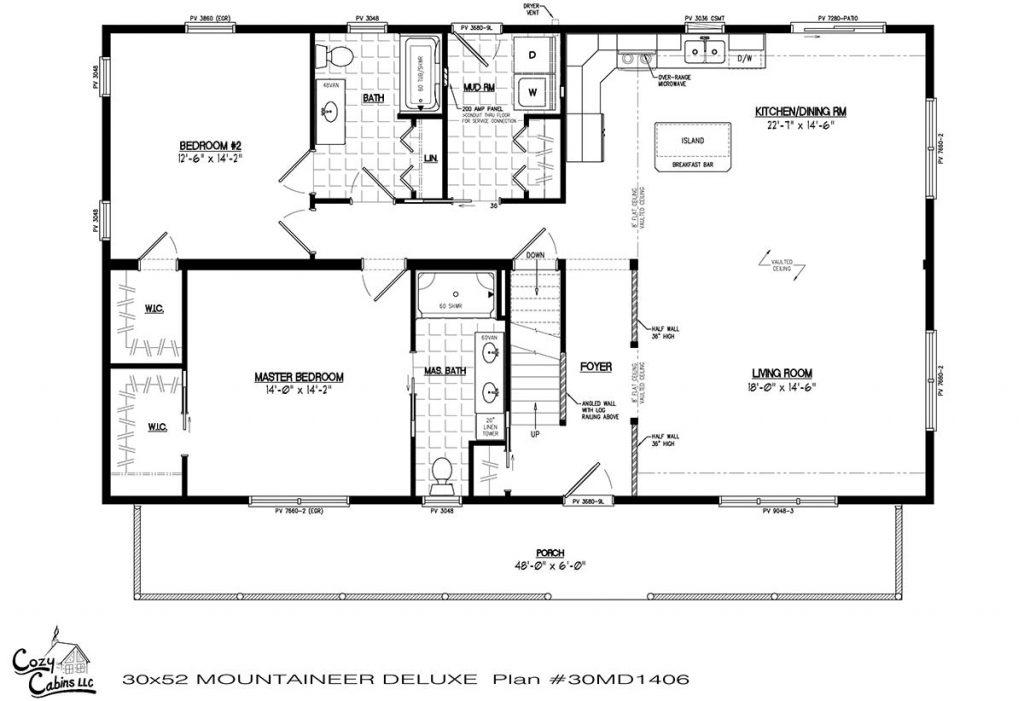 Mountaineer Deluxe 30MD1406 first floor