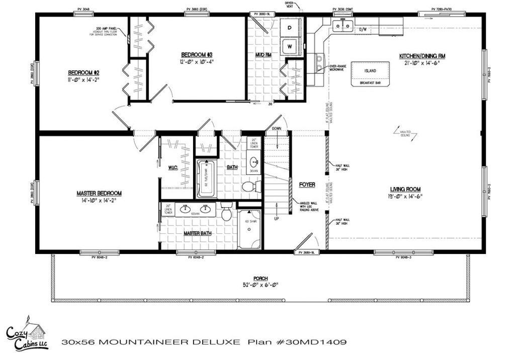 Mountaineer Deluxe 30MD1409 first floor