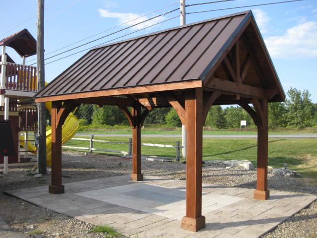 10 39 x 14 39 cedar alpine pavilion at garden time nursery and for Cedar pavilion plans